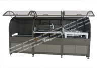 FULLY-AUTOMATIC CCD REGISTRATION SLIDING TABLE SCREEN PRINTING MACHINE TS-CCD/D SERIES